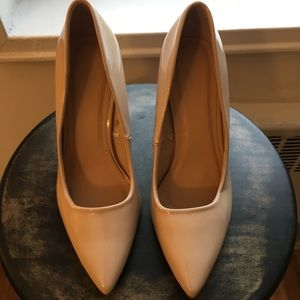 Nude Patent Faux Leather Pump
